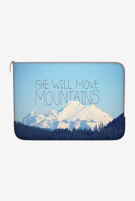 "DailyObjects Move Mountains Macbook Air 13"" Zippered Sleeve"