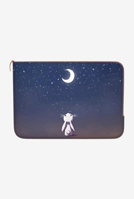 "DailyObjects Moon Bunny Macbook Pro 13"" Zippered Sleeve"