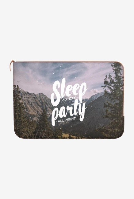 "DailyObjects Party All Night Macbook Pro 13"" Zippered Sleeve"