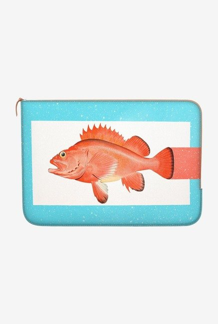 "DailyObjects Orange Fish Macbook Air 13"" Zippered Sleeve"