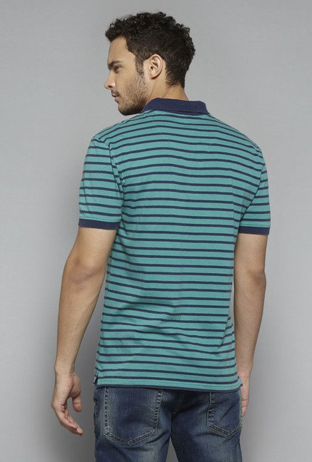 Westsport by Westside Green Striped T Shirt