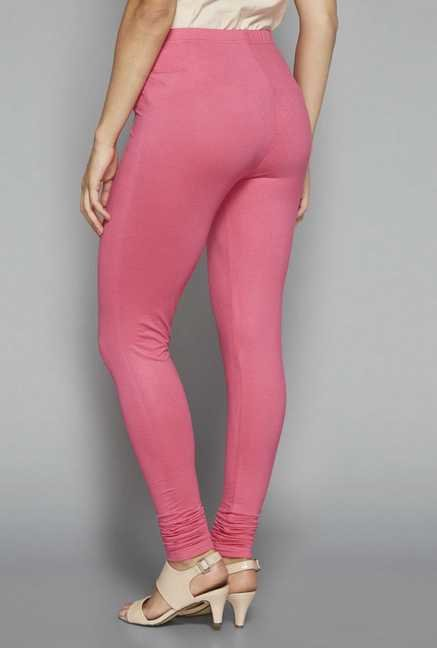 Zuba by Westside Pink Solid Leggings