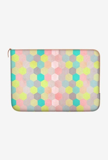 "DailyObjects Pastel Hexagon Macbook Pro 15"" Zippered Sleeve"