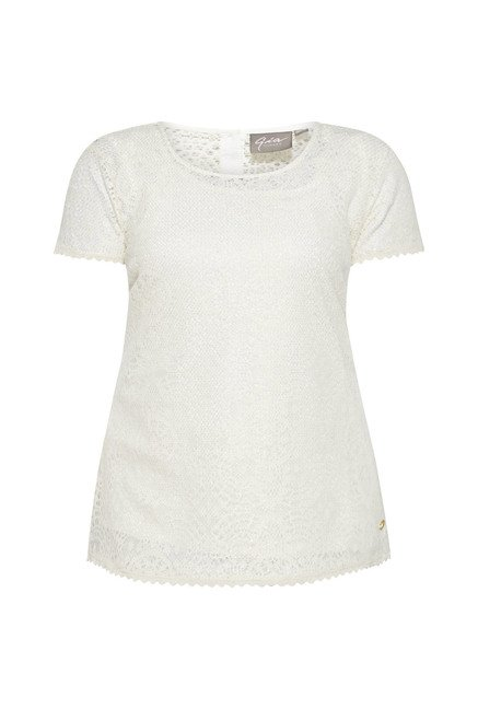 Gia by Westside Abigail Off White Lace Blouse