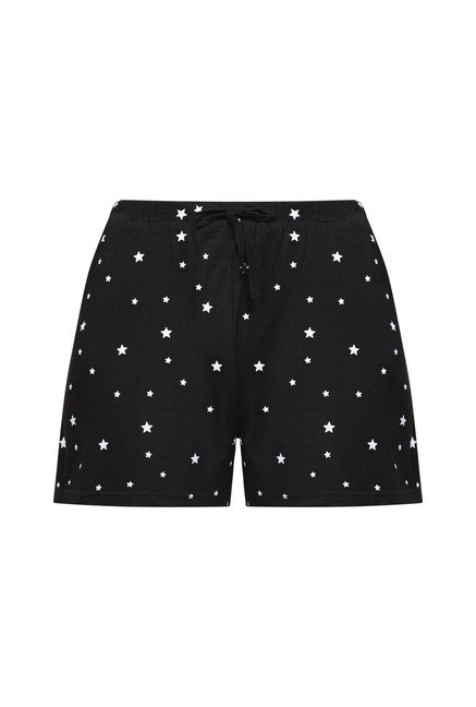 Zudio Black Printed Shorts
