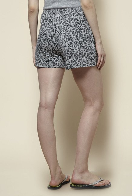 Zudio Grey Printed Shorts