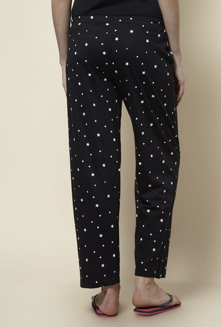 Zudio Black Printed Pyjama