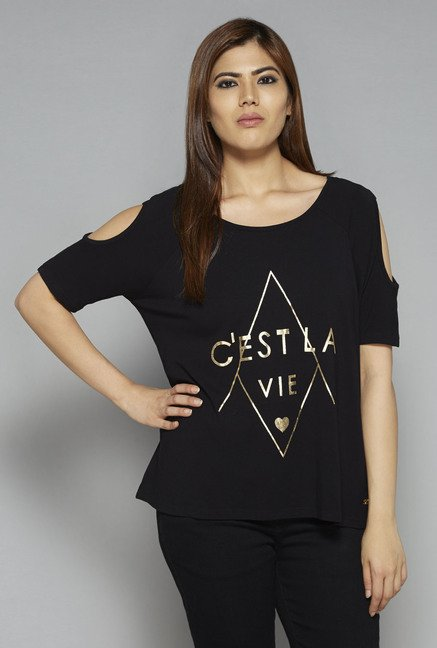 Sassy Soda by Westside Black Celeste T Shirt