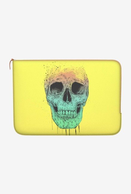 "DailyObjects Pop Art Skull Macbook 12"" Zippered Sleeve"
