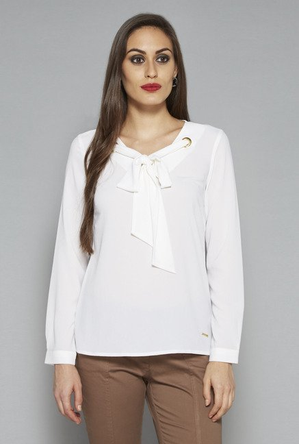 Wardrobe by Westside White Sarah Blouse