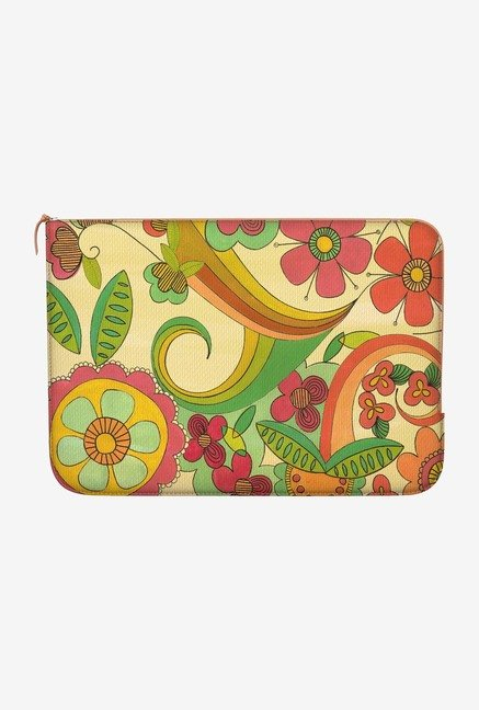 "DailyObjects Magic Floral Macbook Air 11"" Zippered Sleeve"