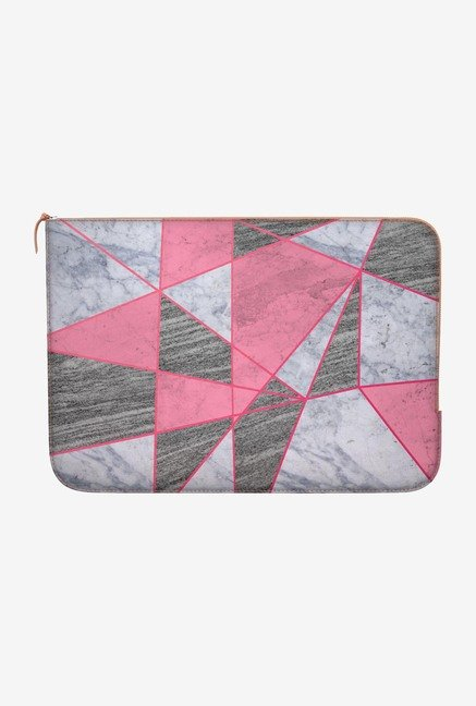"DailyObjects Marble Line Pink Macbook 12"" Zippered Sleeve"