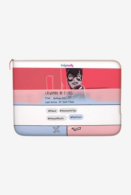 "DailyObjects Swipe Catwoman Macbook Air 13"" Zippered Sleeve"