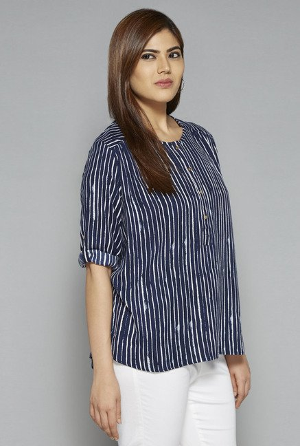 Gia by Westside Navy Eve Blouse