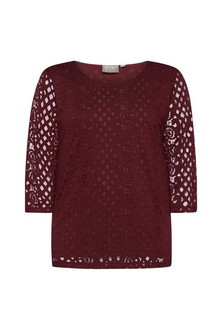 Gia by Westside Maroon Viona Top