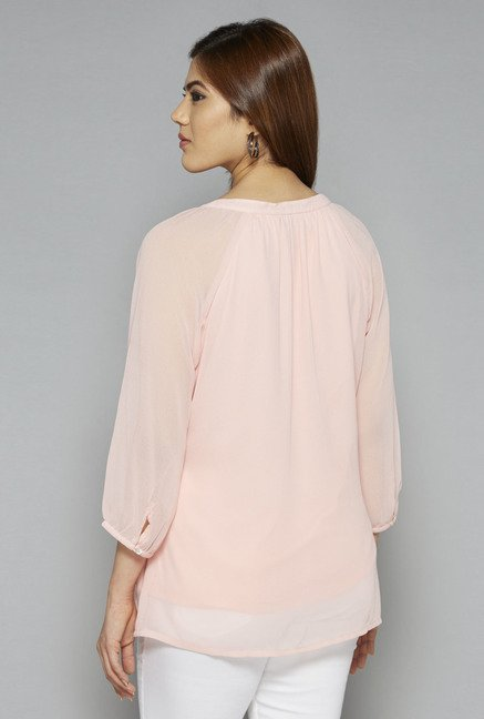 Gia by Westside Peach Ashley Blouse