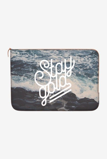 "DailyObjects Stay Gold Macbook Air 13"" Zippered Sleeve"