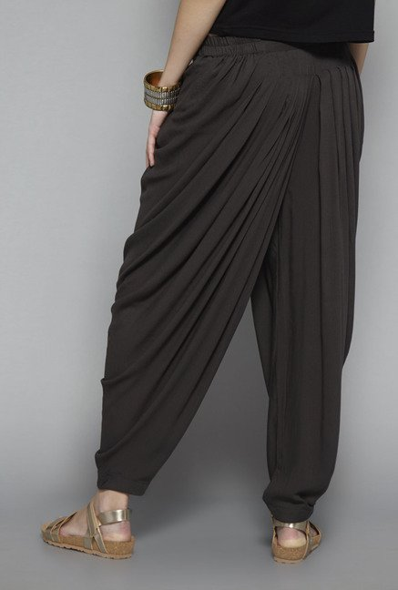 Bombay Paisley by Westside Black Solid Dhoti Pant