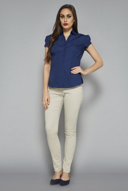 Wardrobe by Westside Blue Nancy Blouse
