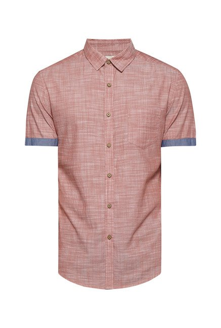 Westsport by Westside Peach Self Print Shirt
