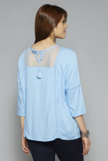 Gia by Westside Blue Ella Blouse