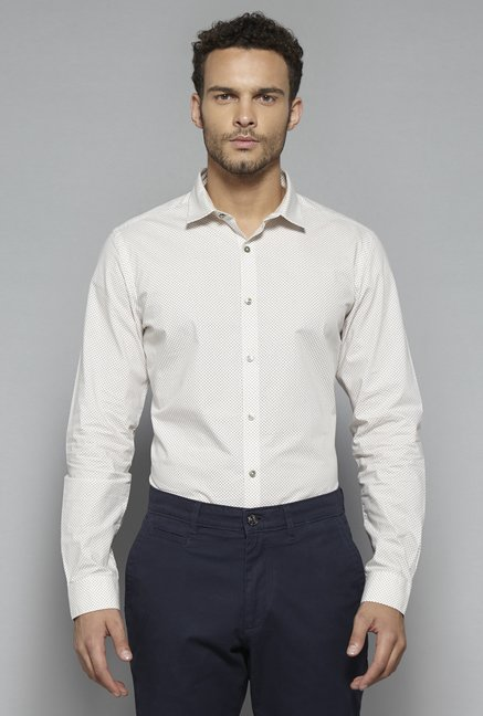 Ascot by Westside White Printed Shirt