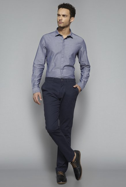 Ascot by Westside Blue Slim Fit Shirt