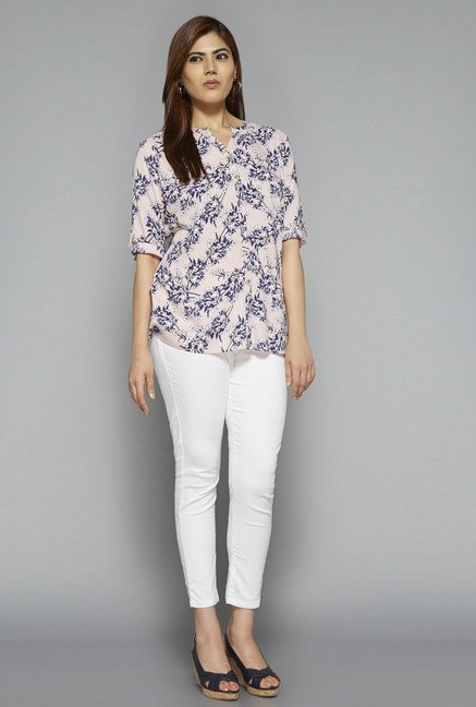 Gia by Westside Pink Printed Blouse