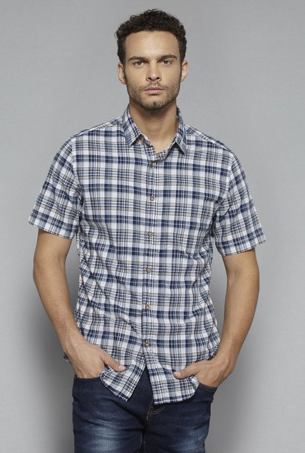 Westsport by Westside Blue Checks Shirt