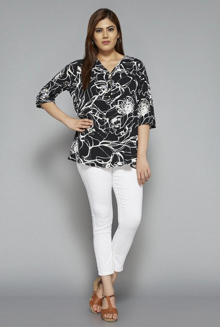 Gia by Westside Black Cara Blouse