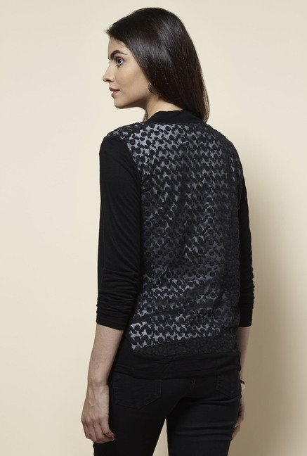 Zudio Black Solid Shrug
