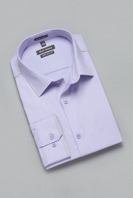 Weststreet by Westside Purple Solid Shirt