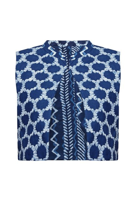 Zudio Blue Printed Jacket