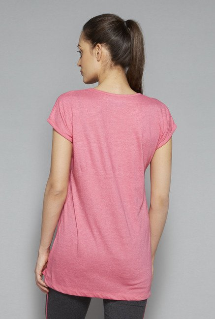 Westsport by Westside Pink Printed T Shirt