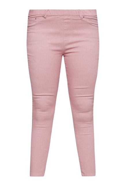 Gia by Westside Light Pink Raw Denim Jeans