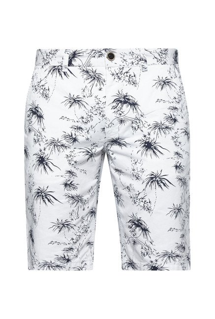 Westsport by Westside White Floral Print Shorts