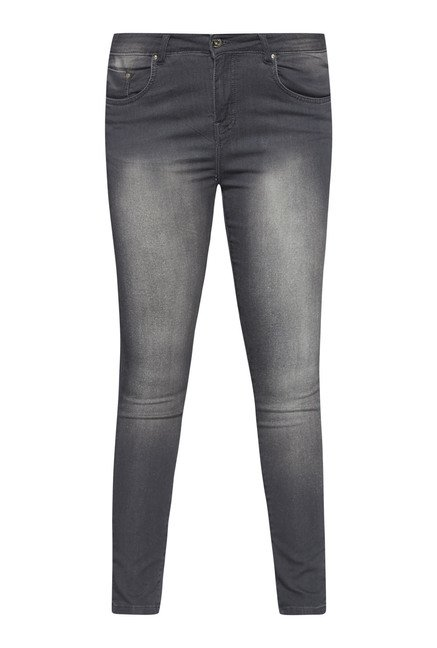 Gia by Westside Grey Heavily Washed Jeans