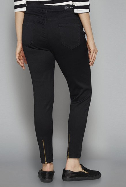 Gia by Westside Black Raw Denim Jeans