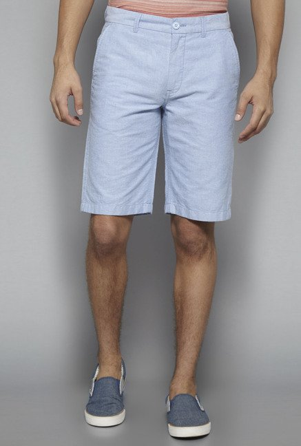 Westsport by Westside Blue Solid Shorts