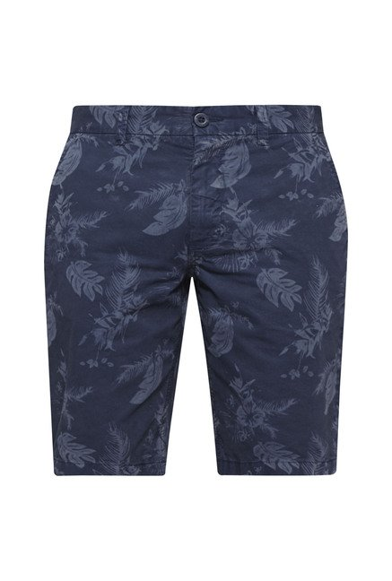 Westsport by Westside Navy Floral Print Shorts