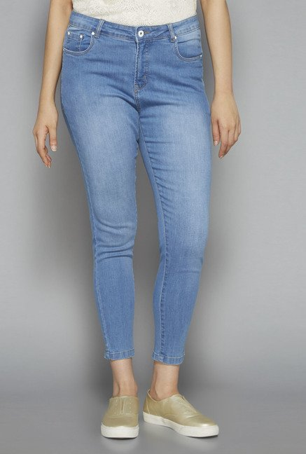 Gia by Westside Blue Lightly Washed Jeans