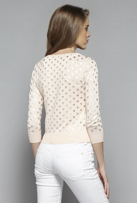 Nuon by Westside Pink Printed Blaire Cardigan