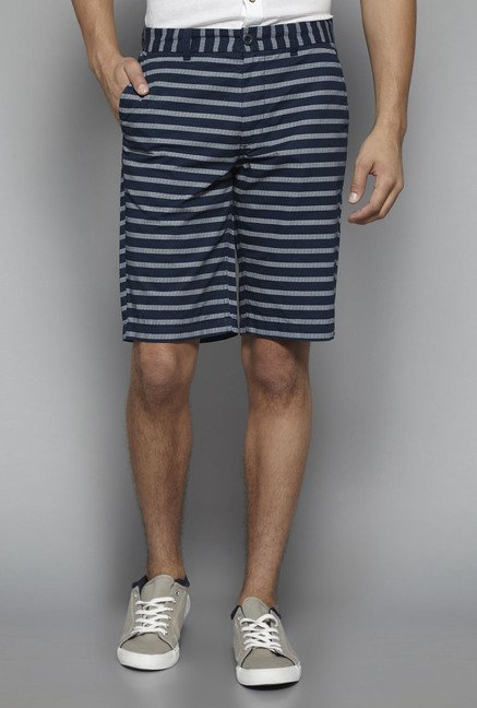 Westsport by Westside Navy Striped Shorts