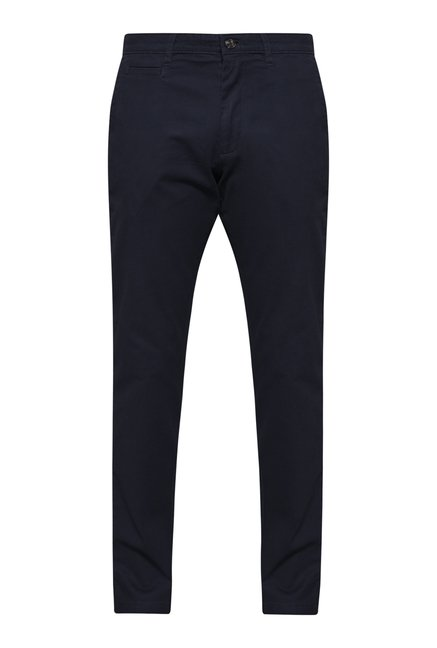 Ascot by Westside Navy Solid Chinos