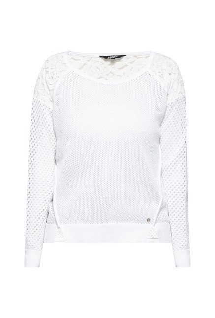 Nuon by Westside White Lace Leanne Sweater