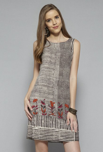 Bombay Paisley by Westside Brown Printed Dress