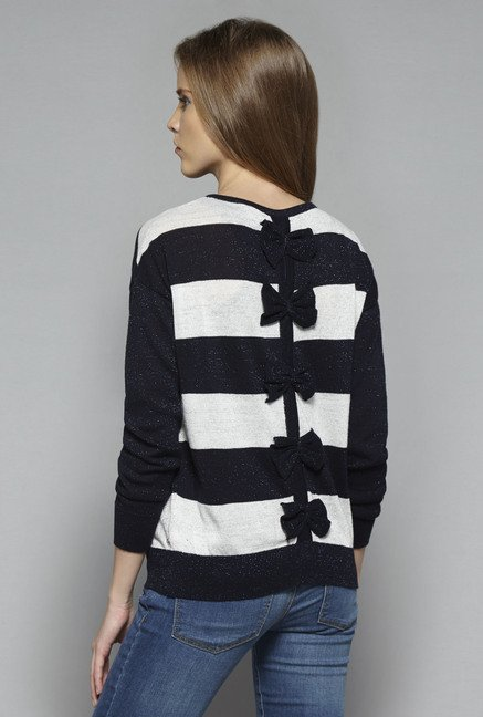 Nuon by Westside Navy Striped Sweater