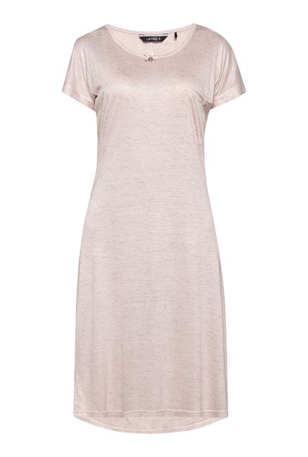 Intima by Westside Pink Textured Short Nightdress