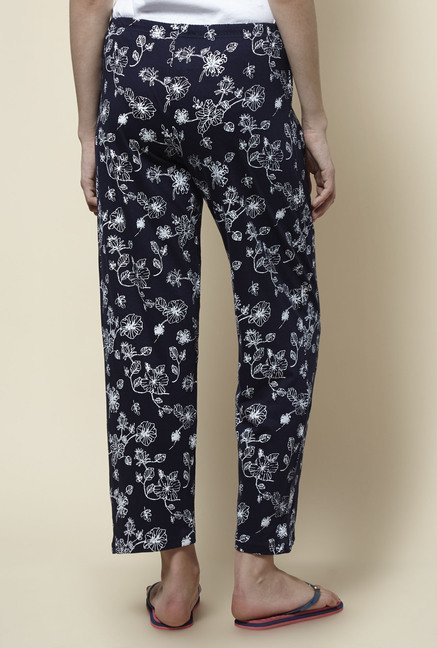 Zudio Navy Printed Pyjama