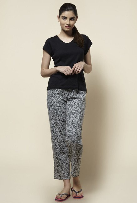 Zudio Grey Printed Pyjama